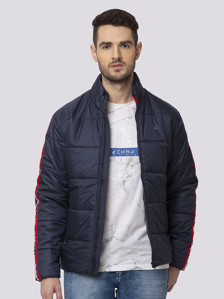 Status Quo |NAVY  With Tipping Rib Jacket - M, L, XL, XXL