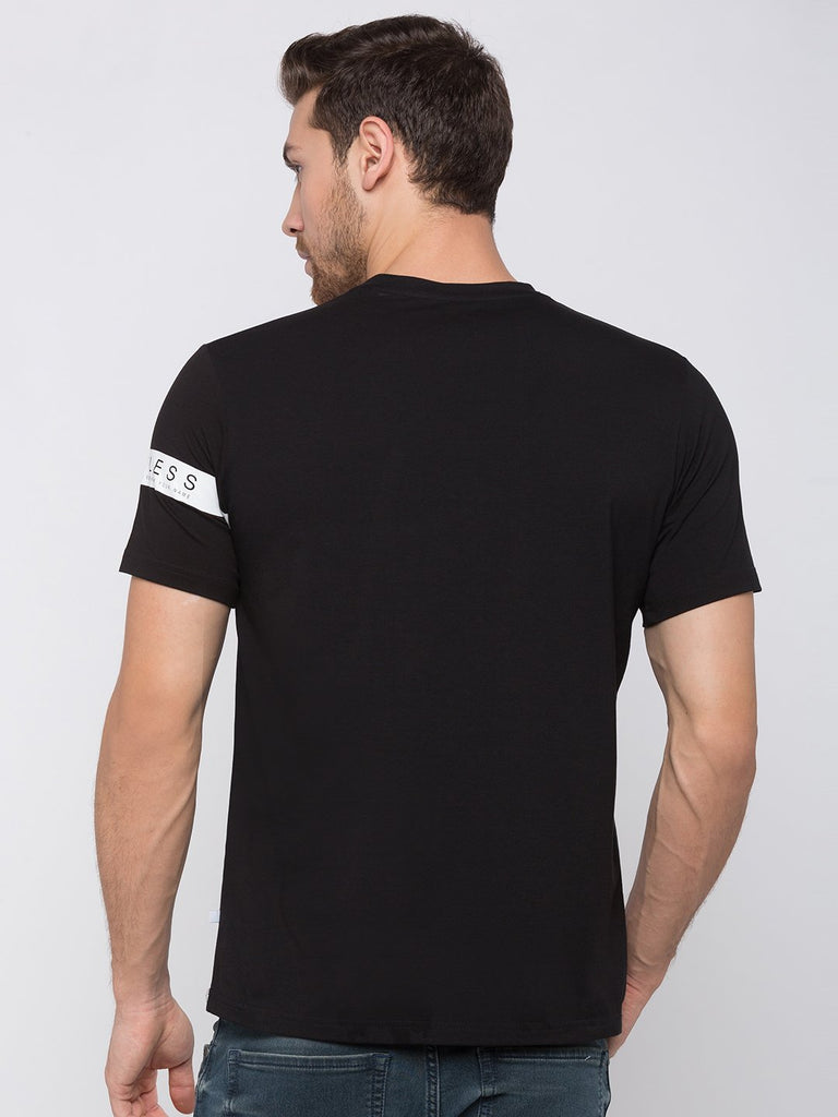 Printed T-Shirt With Tape Detail