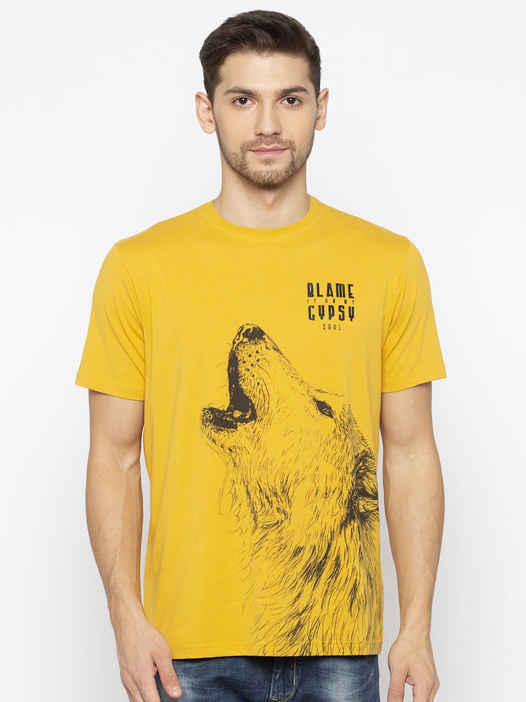 Yellow Animal Print t shirt