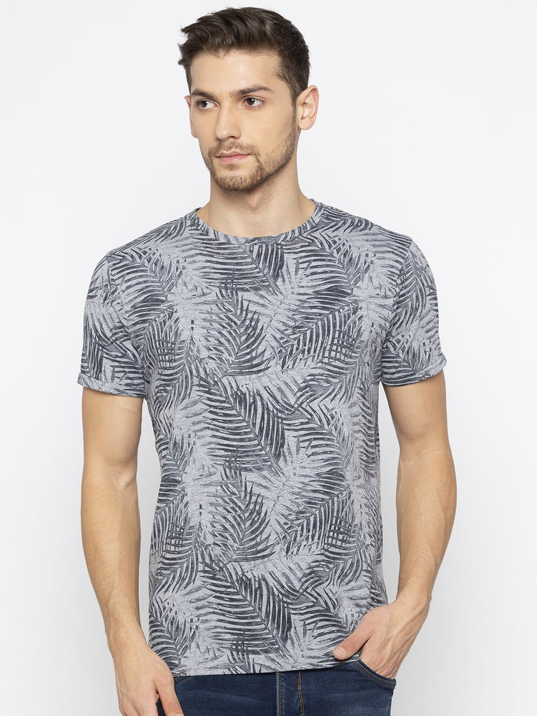 Grey Printed T Shirts