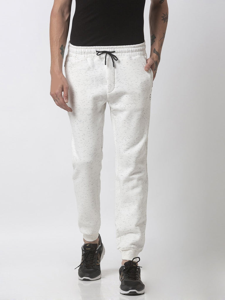 Regular Fit White Joggers