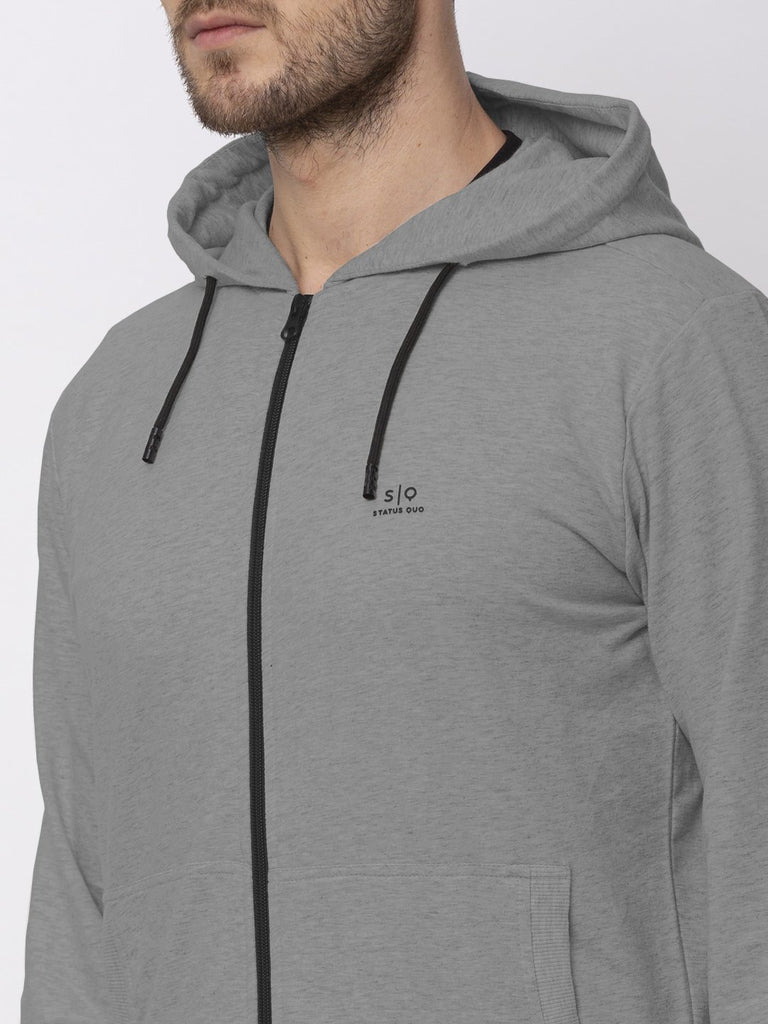 Solid Lightweight Hooded Sweatshirt