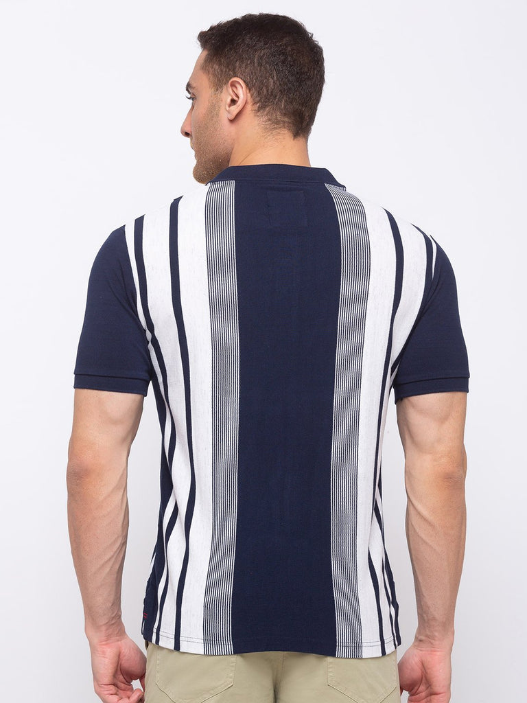 Striped Regular Fit Polo T-shirt