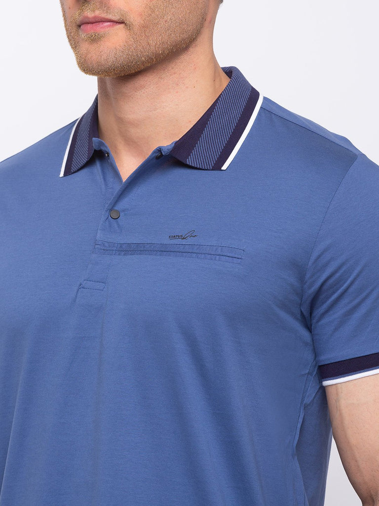 Solid Regular Fit Polo T-shirt