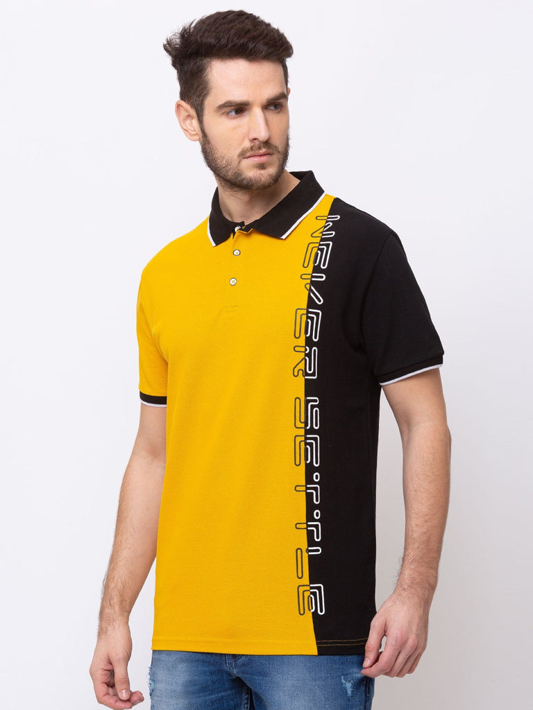 Printed Tipping Collar Tape T-Shirt