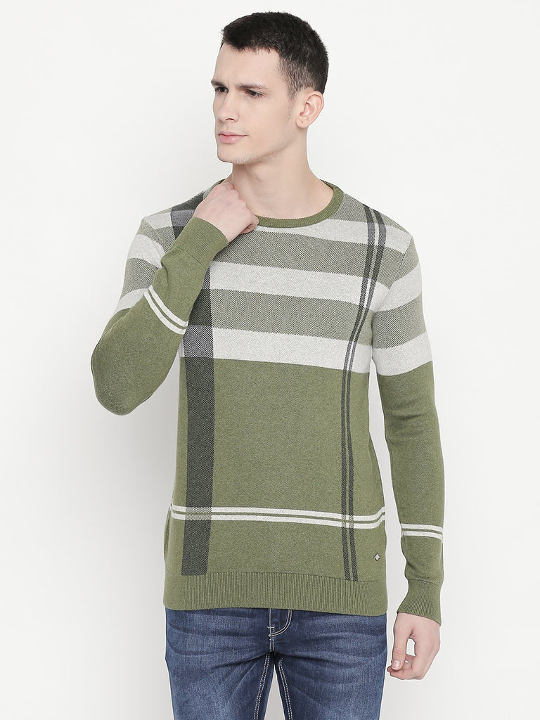Status Quo |Green Round Neck Sweater - M, L, XL, XXL