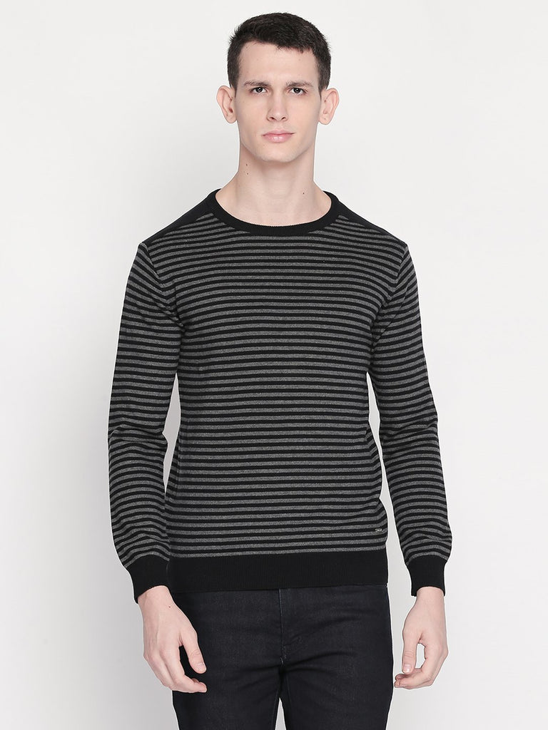 Status Quo |BLACK Round Neck Sweater - M, L, XL, XXL