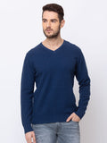 V Neck Solid Sweater