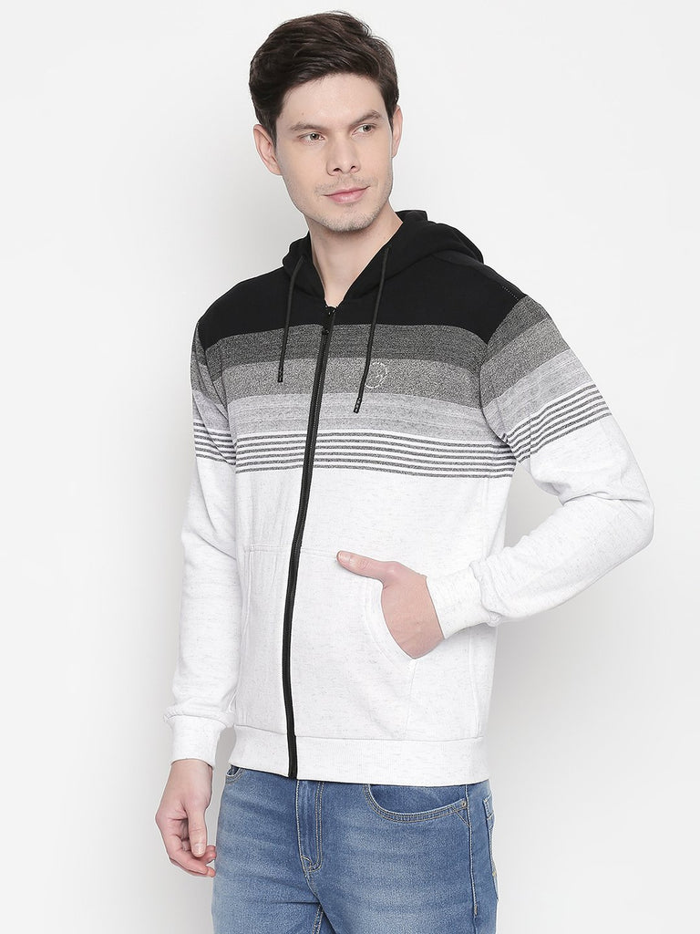 Stripped Hooded Sweatshirt