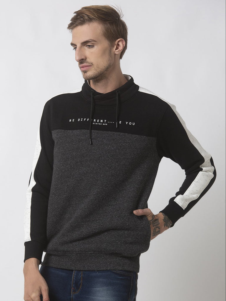 Status Quo |Black Cross Neck Sweatshirt - 3XL, 4XL, 5XL