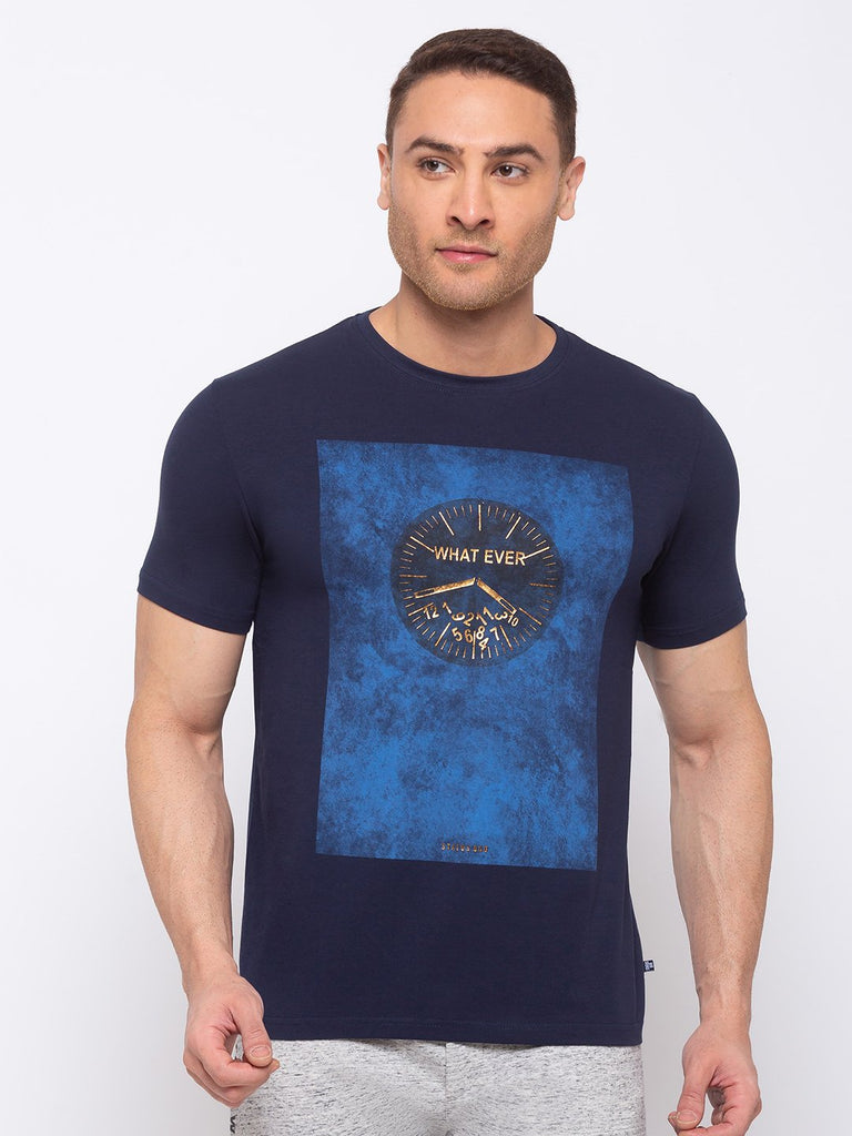 Status Quo |Printed Regular Fit Round Neck T-shirt - M, L, XL, XXL