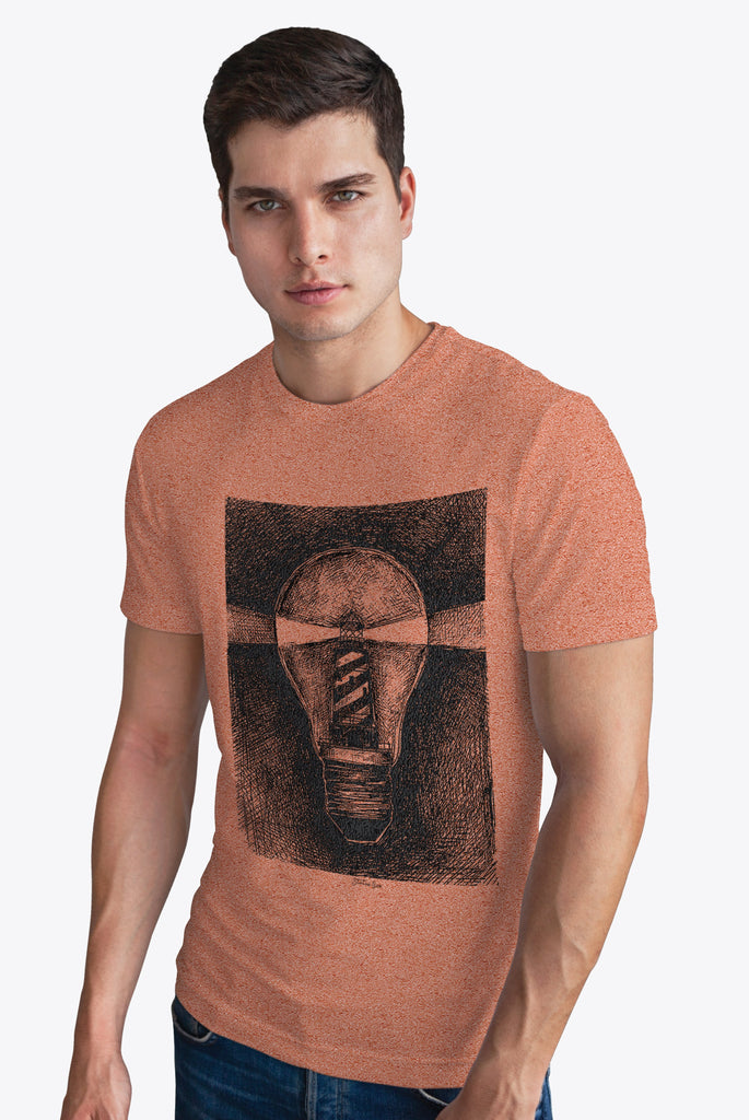LT Coral Cotton Chest Print Tee