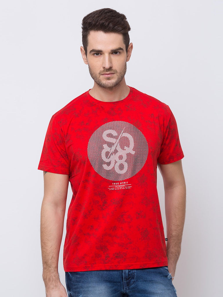 Status Quo |Red Round Neck T-Shirt - M, L, XL, XXL