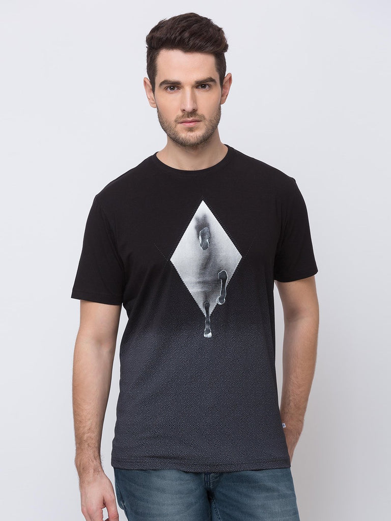 Status Quo |Black Round Neck T-Shirt - M, L, XL, XXL