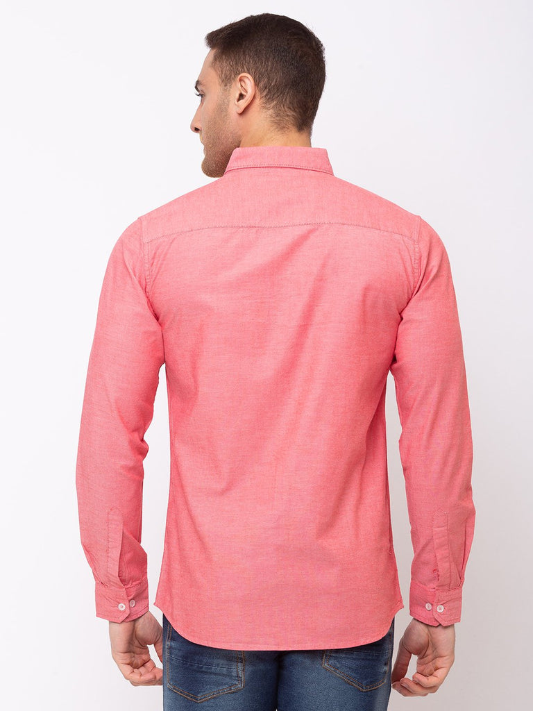 Solid Cotton Slim Fit Shirt