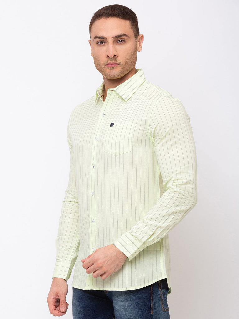 Vertical Stripes Regular Collar Shirt