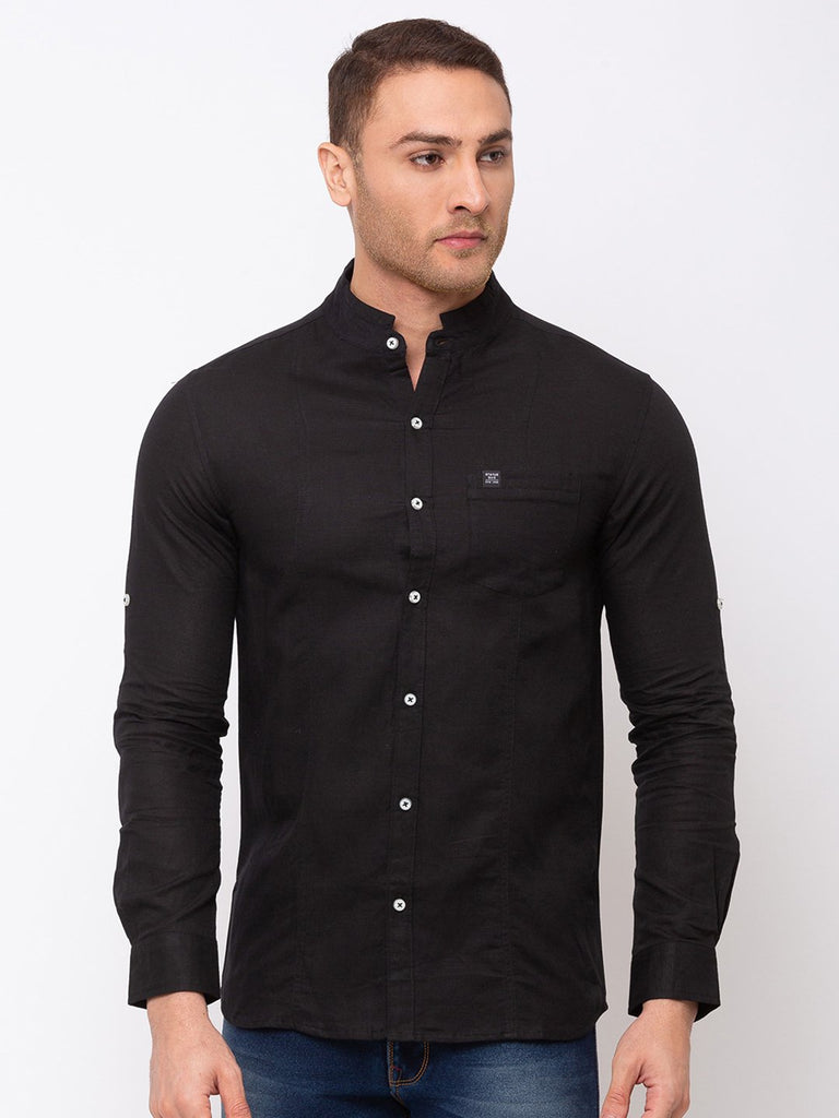 Status Quo |Solid Stand Collar Shirt - M, L, XL, XXL