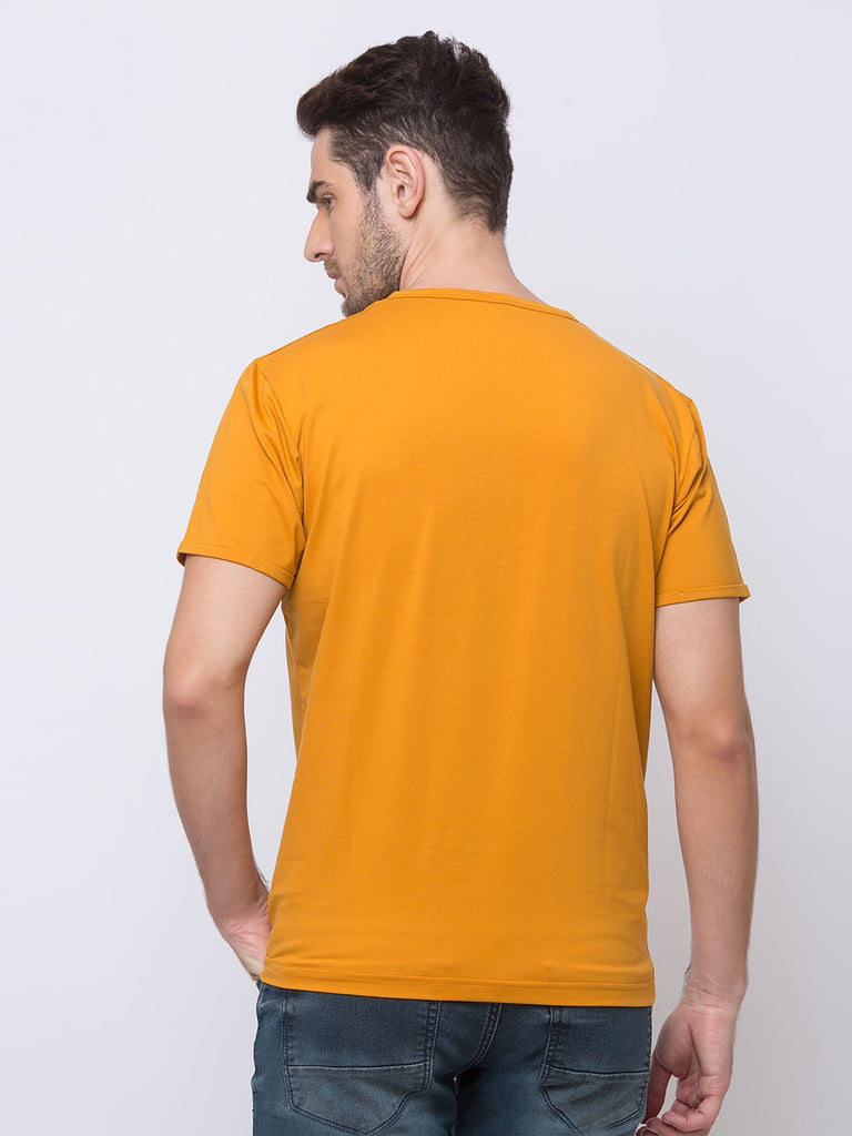 Solid Henley Neck T-Shirt