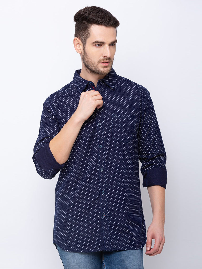 Status Quo |NAVY Spread Collar Shirt - M, L, XL, XXL