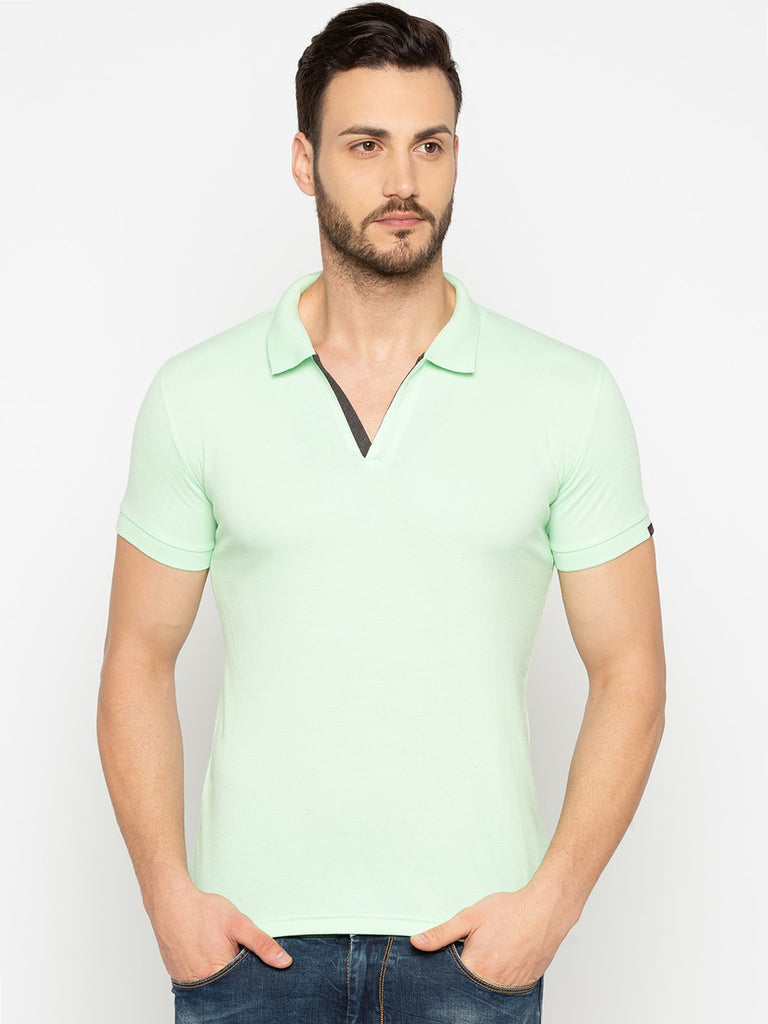 Slim Fit Ice Green Polo Tshirt