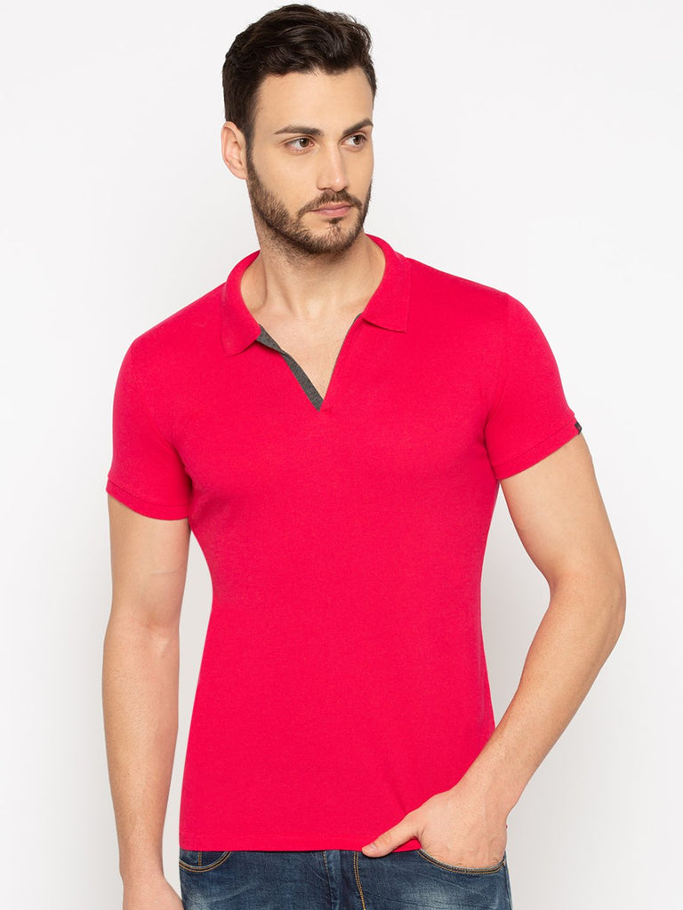 Slim Fit Pink Polo tshirt
