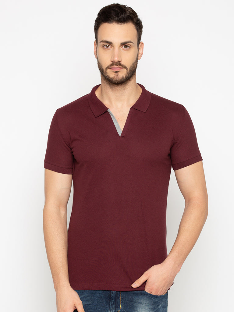 Dark Wine Slim Fit Tshirt