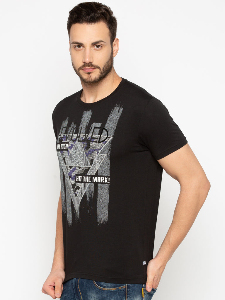T-Shirt With Texture Effect