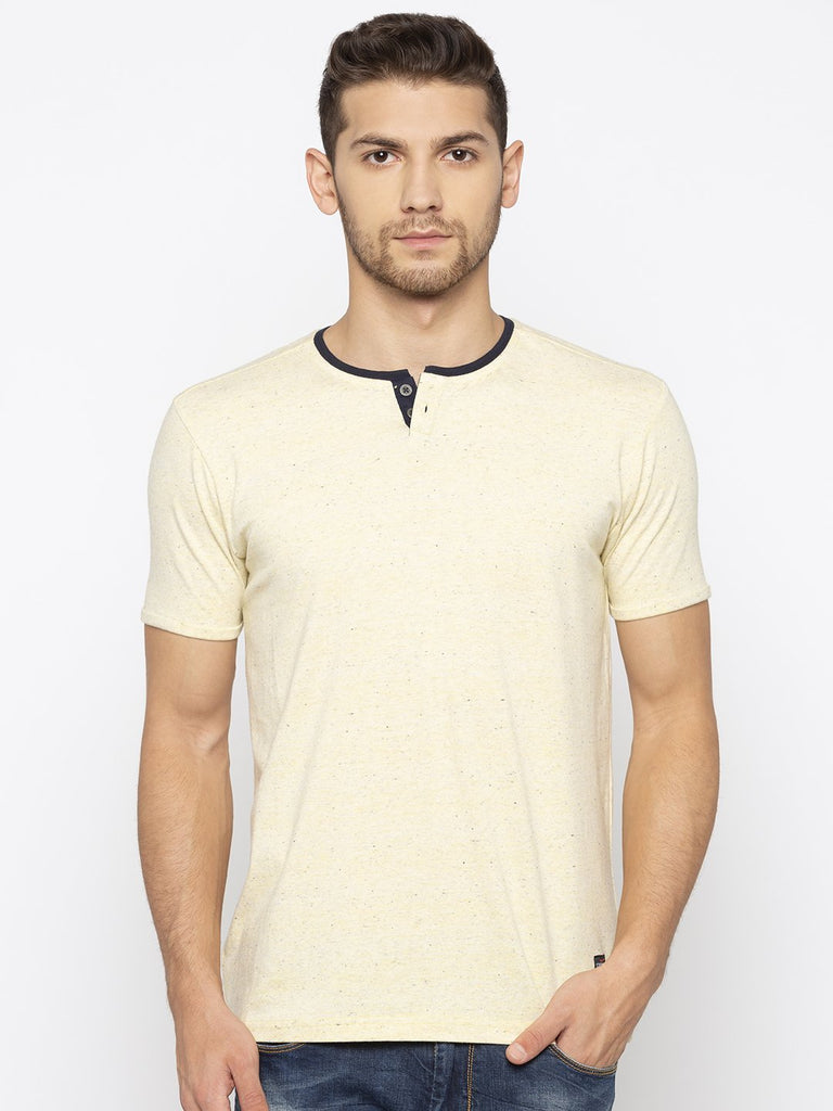 Lemon Yellow Henley Tshirt