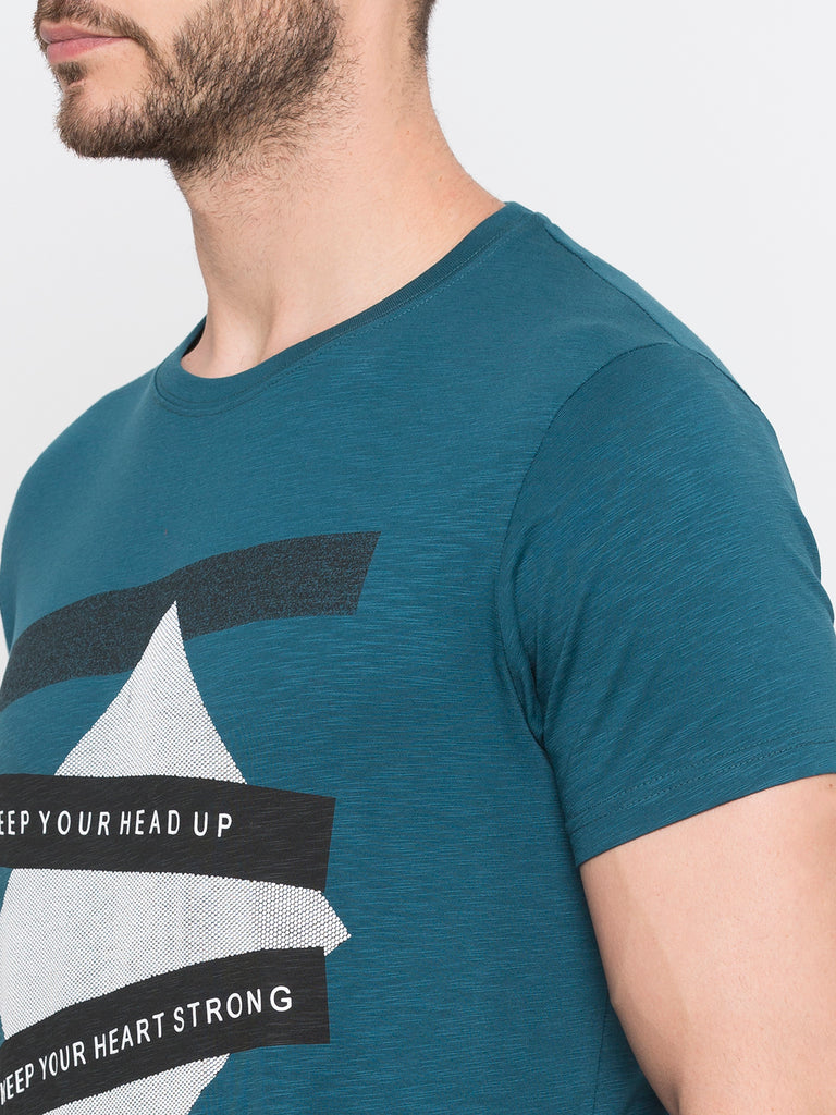 Printed T-Shirt With Texture