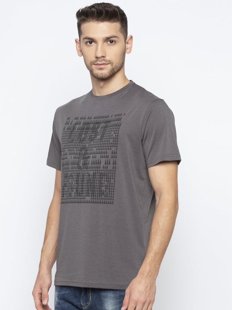 Printed T-Shirt With Texture Effect