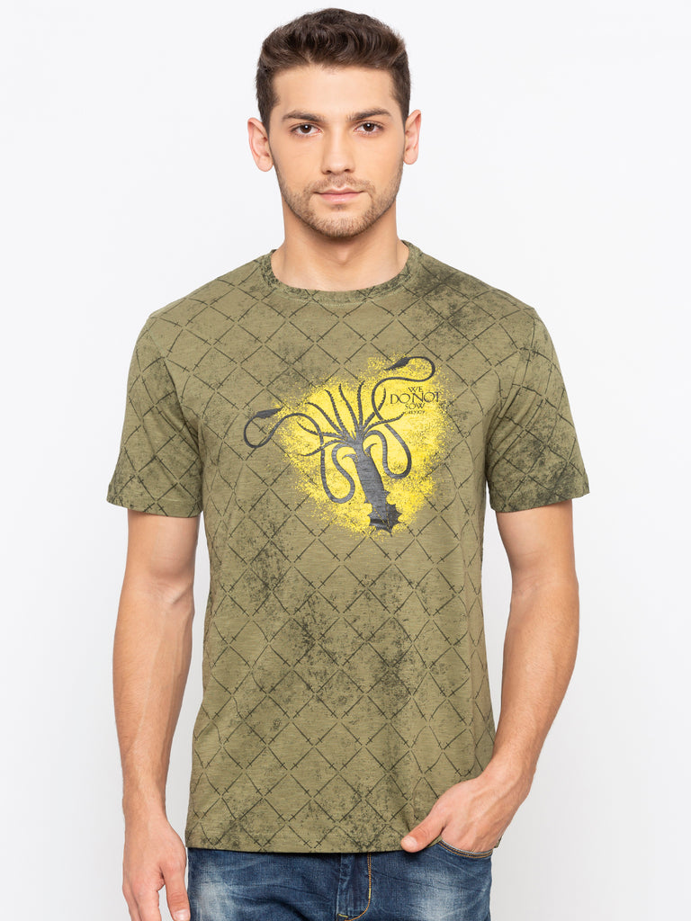 Game of Thrones Green Printed Tee