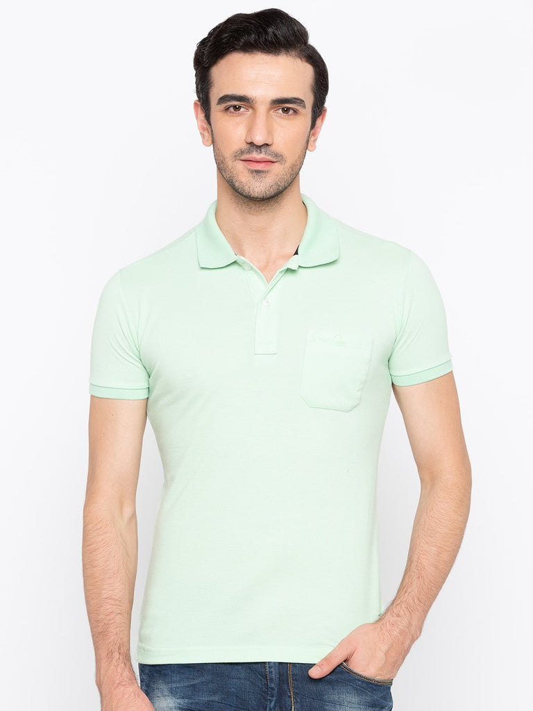 Regular Fit Ice Green Polo T-Shirt