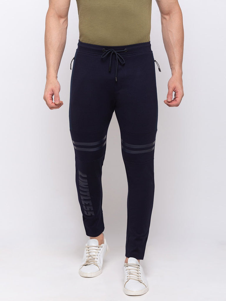 Status Quo |NAVY Solid Regular Fit Trackpant - 3XL, 4XL, 5XL
