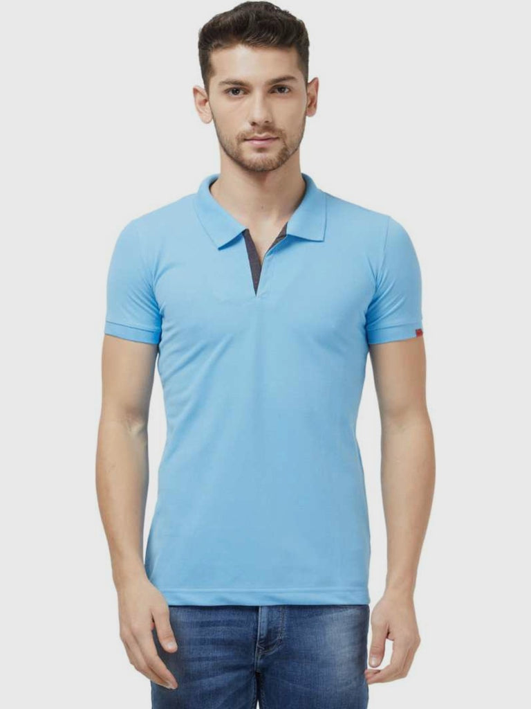 Slim Fit Blue Polo Tshirt