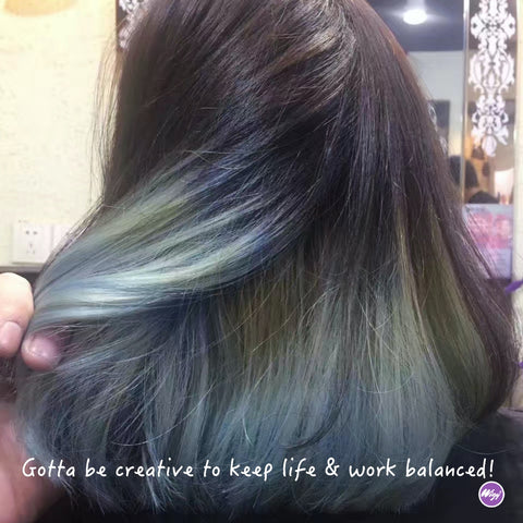 colored hair in WigyWigy - the wig store