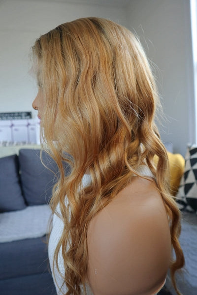 "20"" Ombre Blonde Wavy Human Hair Wig at wigywigy.com"