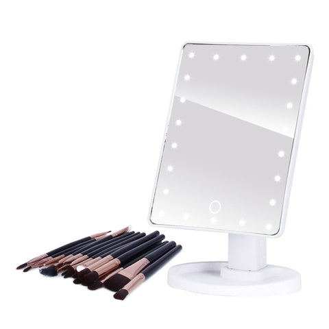 LED Professional Lighted Mirror With Light for makeup Adjustable Light 16/22 Touch Screen