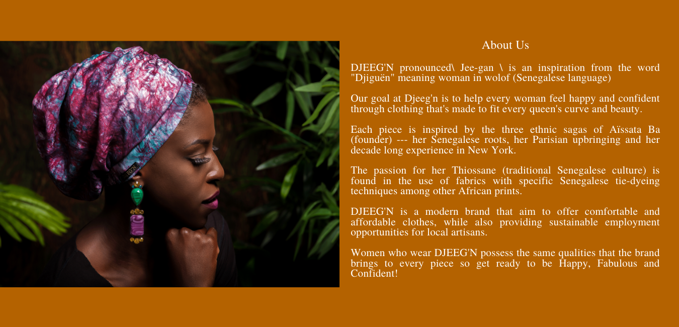 About Djeeg'n by Aissata Ba African fashion