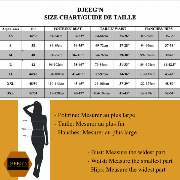 Djeeg'n size guide