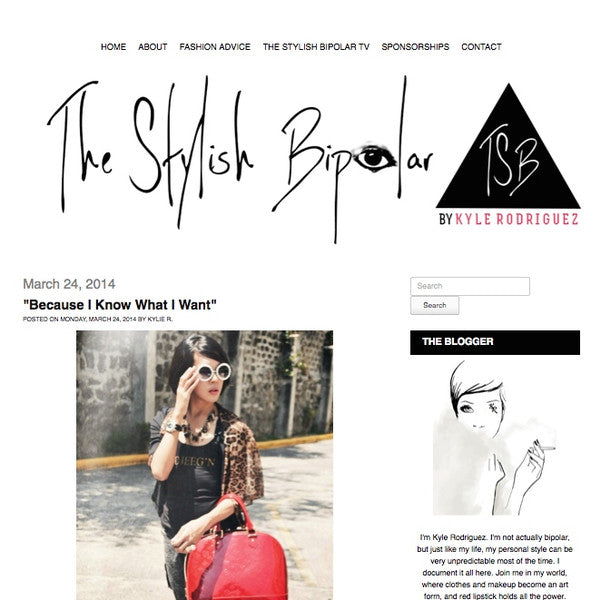 A DJEEGN feature by fashion blogger Kyle Rodriguez of The Stylish Bipolar
