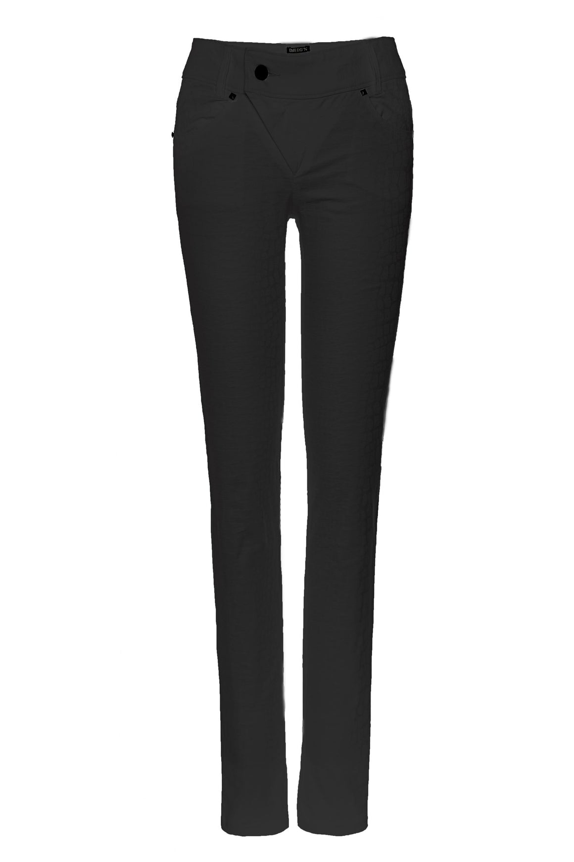 black asymmetrical zipper pants