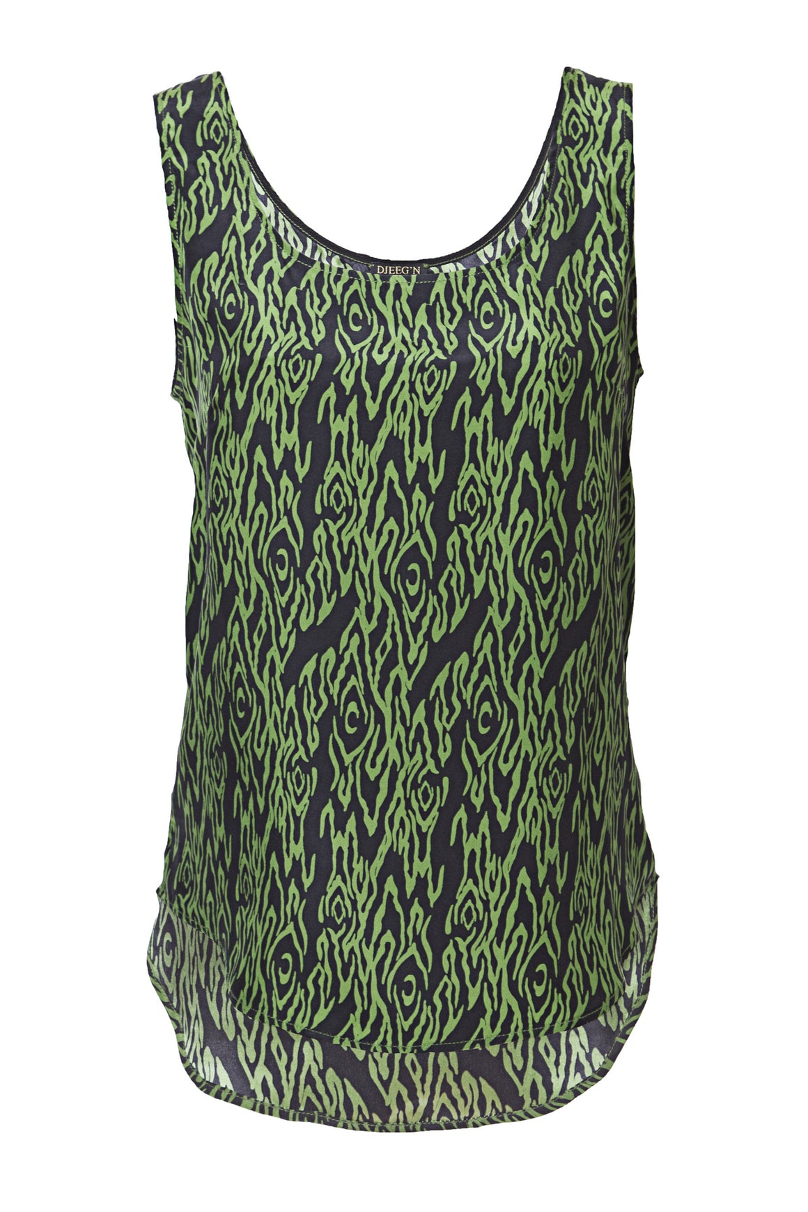 green black luxury silk tank top