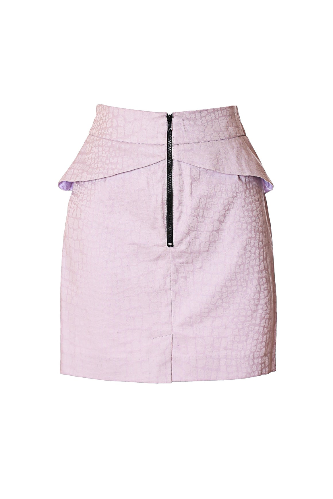 purple lavender peplum skirt