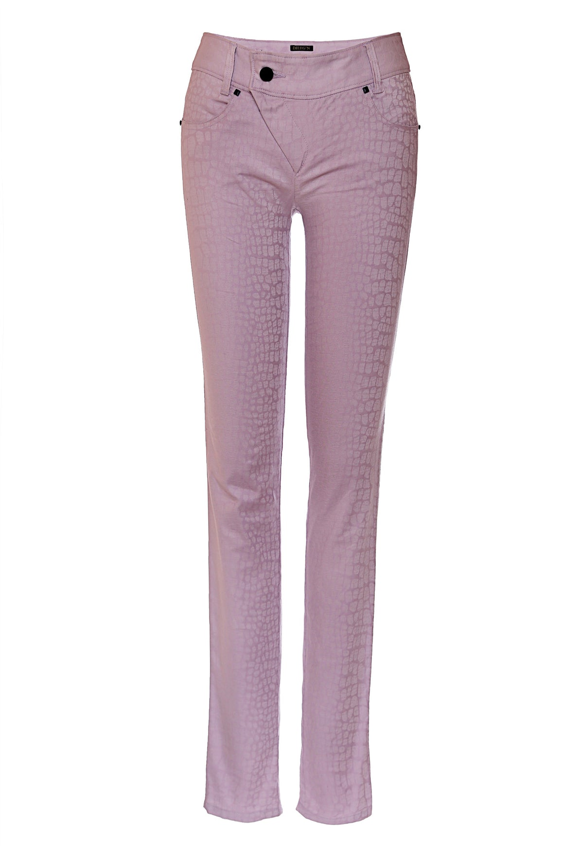 purple lavender asymmetrical zipper pants