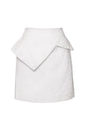 celebrity style white peplum skirt