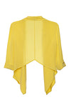yellow silk crop jacket