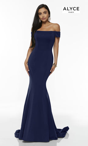 Alyce Paris Formal Dress: 60294. Long, Off The Shoulder, Mermaid