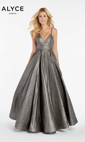 Alyce Paris Formal Dress: 60564. Long, V-Neck, Medium Fullness