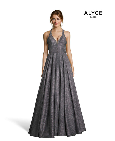 Alyce Paris Formal Dress: 60568. Long, Halter, Fit N Flare, Strappy Back