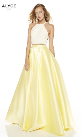Alyce Paris Formal Dress: 60614. Long, High Neck, Medium Fullness